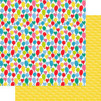 Fancy Pants Designs - Cake Smash Collection - 12 x 12 Double Sided Paper - Balloon Time