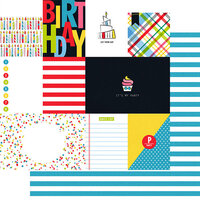 Fancy Pants Designs - Cake Smash Collection - 12 x 12 Double Sided Paper - Cut Apart