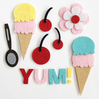 Fancy Pants Designs - A Cherry On Top Collection - Embellishments - Felt Pieces