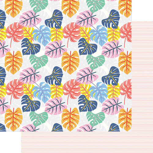 Fancy Pants Designs - Vitamin Sea Collection - 12 x 12 Double Sided Paper - Tropical Leaves