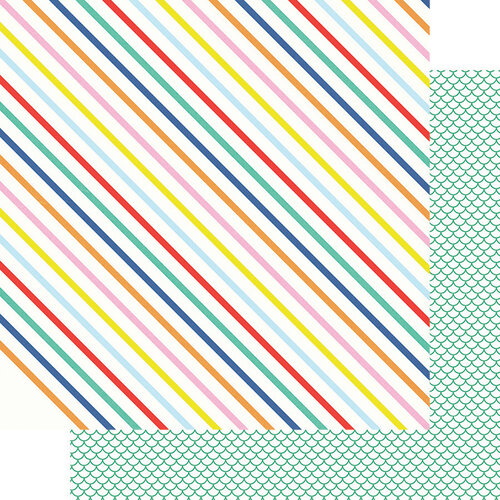 Fancy Pants Designs - Vitamin Sea Collection - 12 x 12 Double Sided Paper - Happy Stripes