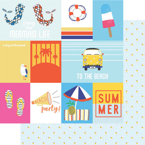 Fancy Pants Designs - Vitamin Sea Collection - 12 x 12 Double Sided Paper - Cut Apart