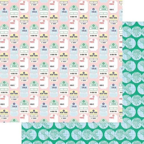 Fancy Pants Designs - Plane Fun Collection - 12 x 12 Double Sided Paper - Destinations