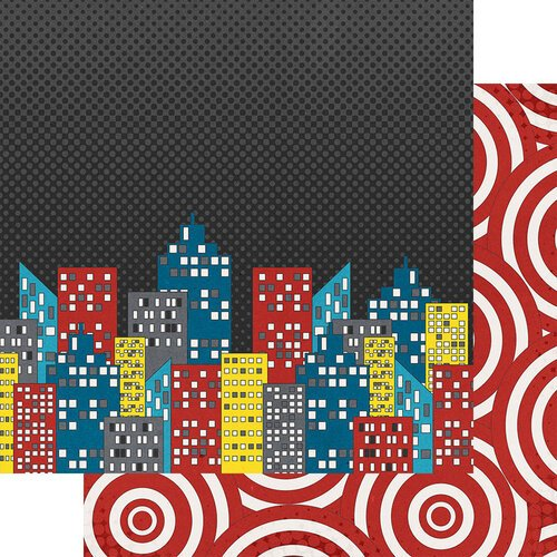 Fancy Pants Designs - Sidekick Optional Collection - 12 x 12 Double Sided Paper - Cityscape