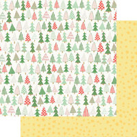 Fancy Pants Designs - Wishmas Collection - 12 x 12 Double Sided Paper - Christmas Trees