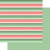 Fancy Pants Designs - Wishmas Collection - 12 x 12 Double Sided Paper - Christmas Stripes