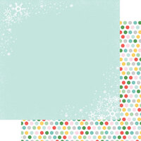 Fancy Pants Designs - Wishmas Collection - 12 x 12 Double Sided Paper - Christmas Flurries