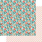Fancy Pants Designs - Peachy Keen Collection - 12 x 12 Double Sided Paper - Just Peachy