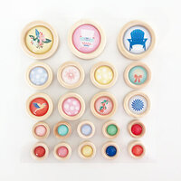 Fancy Pants Designs - Peachy Keen Collection - Wood Buttons