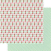 Fancy Pants Designs - Hometown Summer Collection - 12 x 12 Double Sided Paper - Slice of Summer
