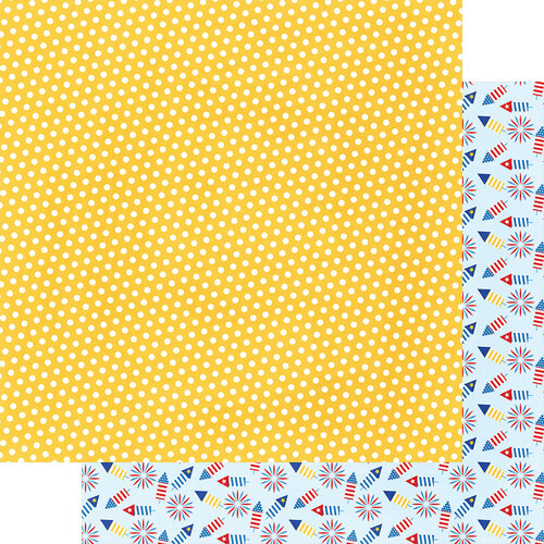 Fancy Pants Designs - Hometown Summer Collection - 12 x 12 Double Sided Paper - Sunny Days