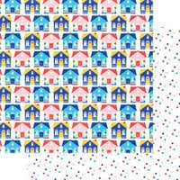 Fancy Pants Designs - Hometown Summer Collection - 12 x 12 Double Sided Paper - Hometown