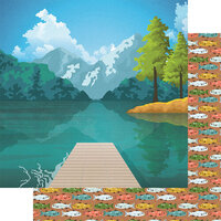 Fancy Pants Designs - Lake Life Collection - 12 x 12 Double Sided Paper - What a View