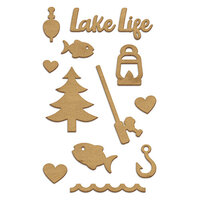 Fancy Pants Designs - Lake Life Collection - Wood Embellishments