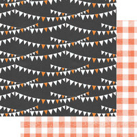 Fancy Pants Designs - A Little Scary Collection - 12 x 12 Double Sided Paper - Halloween Skies