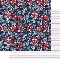 Fancy Pants Designs - My Type Collection - 12 x 12 Double Sided Paper - Love Blooms
