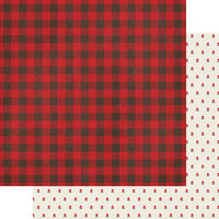 Fancy Pants Designs - Cozy Christmas Collection - 12 x 12 Double Sided Paper - Checking It Twice