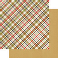 Fancy Pants Designs - Cozy Christmas Collection - 12 x 12 Double Sided Paper - Plaid Tidings