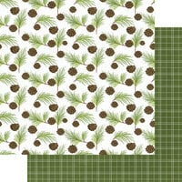 Fancy Pants Designs - Cozy Christmas Collection - 12 x 12 Double Sided Paper - Walk in the Woods