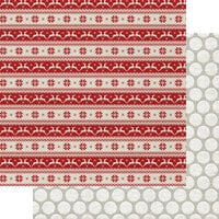 Fancy Pants Designs - Cozy Christmas Collection - 12 x 12 Double Sided Paper - Rudolph's Run