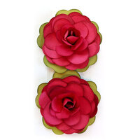 Fancy Pants Designs - Cozy Christmas Collection - Flower Embellishments - Christmas Foliage