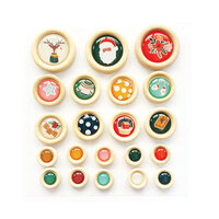 Fancy Pants Designs - Cozy Christmas Collection - Wood Buttons