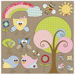 Fancy Pants Designs - Kraft Kuts - 12 x 12 Die Cut Kraft Paper - Kraft Kuts 2