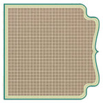 Fancy Pants Designs - Kraft Kuts Collection - 12 x 12 Die Cut Paper - Turquoise Grid, CLEARANCE