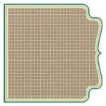 Fancy Pants Designs - Kraft Kuts Collection - 12 x 12 Die Cut Paper - Turquoise Grid, CLEARANCE
