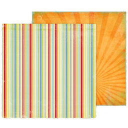 Fancy Pants Designs - Summer Soiree Collection - 12 x 12 Double Sided Paper - Lounging, CLEARANCE