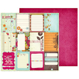Fancy Pants Designs - Delight Collection - 12 x 12 Double Sided Paper - Delight Cards
