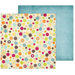 Fancy Pants Designs - Delight Collection - 12 x 12 Double Sided Paper - Bubbles, CLEARANCE
