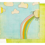 Fancy Pants Designs - On A Whimsy Collection - 12 x 12 Double Sided Paper - Rainbow