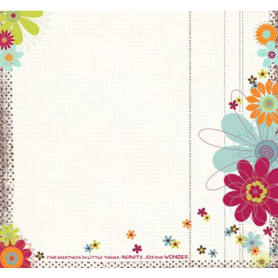 Fancy Pants Designs - Delight Collection - 12 x 12 Transparency - Little Things, CLEARANCE