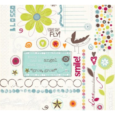 Fancy Pants Designs - Delight Collection - Rub Ons