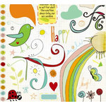 Fancy Pants Designs - On a Whimsy Collection - Rub Ons, CLEARANCE