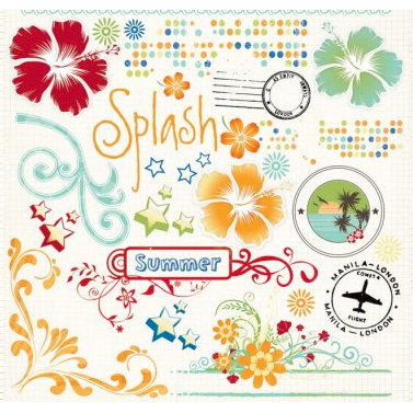 Fancy Pants Designs - Summer Soiree Collection - Rub Ons, BRAND NEW
