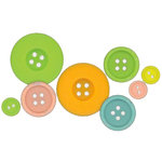 Fancy Pants Designs - On a Whimsey Collection - Buttons, CLEARANCE
