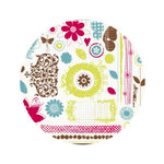 Fancy Pants Designs - Delight Collection - 10 x 10 Clear Acrylic Circle Stamps