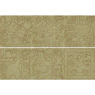 Fancy Pants Designs - Big Board Chipboard - 6 x 6 - Snips and Snails, CLEARANCE