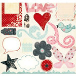 Fancy Pants Designs - Splendid Collection - 12 x 12 Die Cuts - Titles and Tags, CLEARANCE