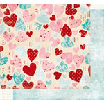 Fancy Pants Designs - Splendid Collection - 12 x 12 Double Sided Paper - Queen of Hearts