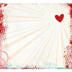 Fancy Pants Designs - Splendid Collection - 12 x 12 Transparency - Glowing Heart, CLEARANCE