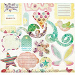 Fancy Pants Designs - Arctic Chill Collection - 12 x 12 Die Cuts - Titles and Tags , CLEARANCE