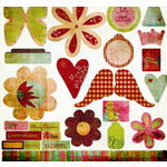 Fancy Pants Designs - Happy Holidays Collection - 12 x 12 Die Cuts - Titles and Tags, CLEARANCE
