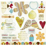 Fancy Pants Designs - All Fall Collection - 12 x 12 Die Cuts - Titles and Tags, CLEARANCE