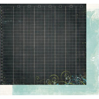 Fancy Pants Designs - The Daily Grind Collection - 12 x 12 Double Sided Paper - Chalkboard