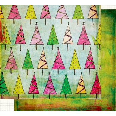 Fancy Pants Designs - Happy Holidays Collection - 12 x 12 Double Sided Paper - Tree Lot