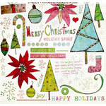 Fancy Pants Designs - Happy Holidays Collection - Rub Ons, CLEARANCE