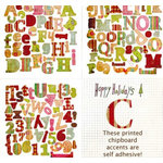 Fancy Pants Designs - Happy Holidays Collection - Self Adhesive Chipboard Alphabets, CLEARANCE